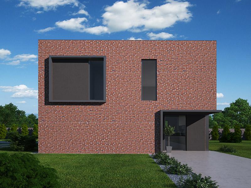 pohled - perspektiva domu Rubik 1